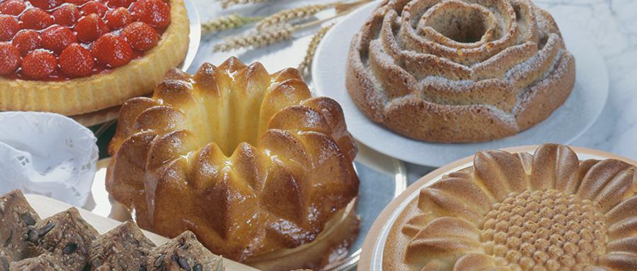 Kuchen mit Silikonbackformen