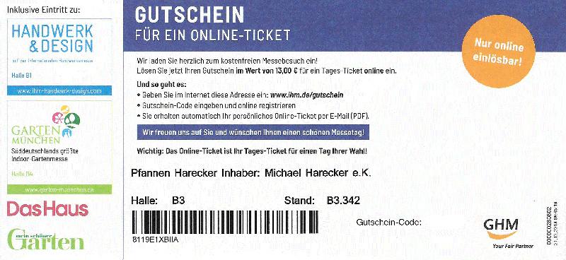 Eintrittskarte IHM